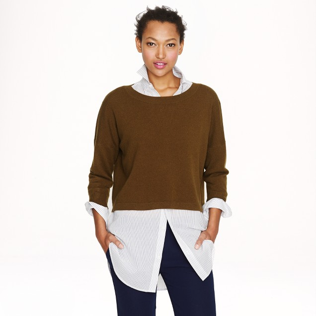 Collection cashmere cropped sweater