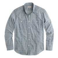 Wallace & Barnes shirt in textured stripe