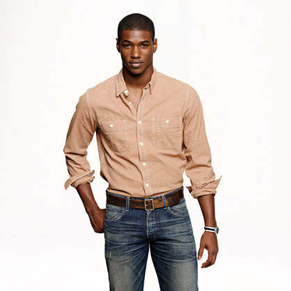 Wallace & Barnes yarn-dyed canvas shirt