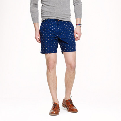 "7"" Stanton short in anchor print"