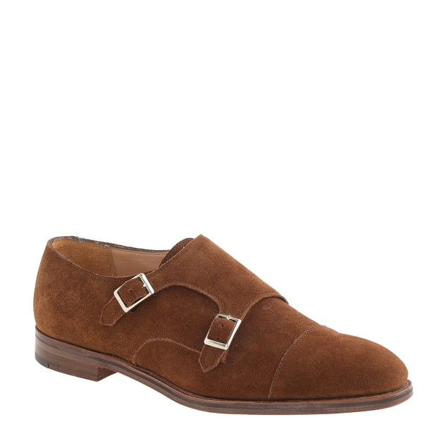 Alfred Sargent™ for J.Crew double monk strap shoes in suede