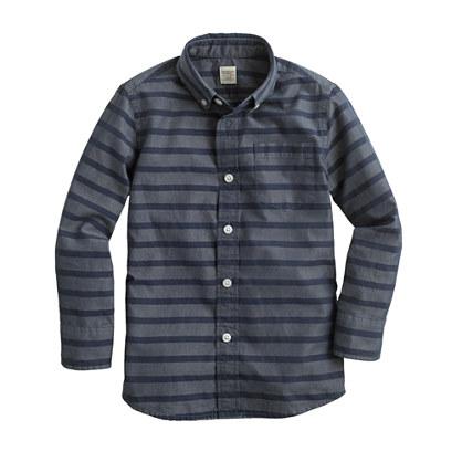 Boys' Secret Wash  shirt in horizontal stripe