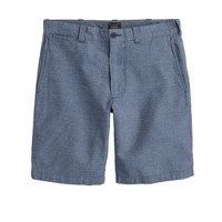"9"" Stanton short in pinstripe Irish linen-cotton"