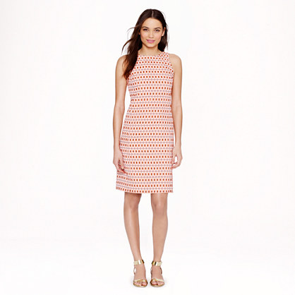 Collection shift dress in tile jacquard