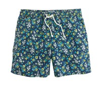 "6"" swim trunk in haven blue floral"