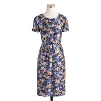 Collection wool-silk dress in nightgarden floral