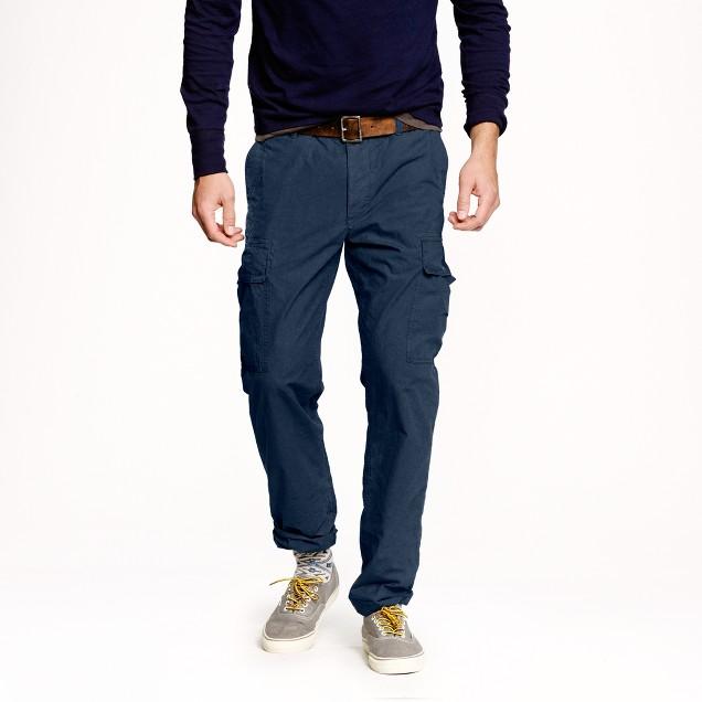 Slim garment-dyed cargo pant