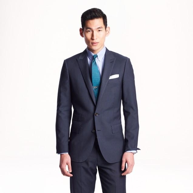 Ludlow suit jacket in Navy pinstripe Italian wool