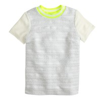 Collection metallic white tweed T-shirt