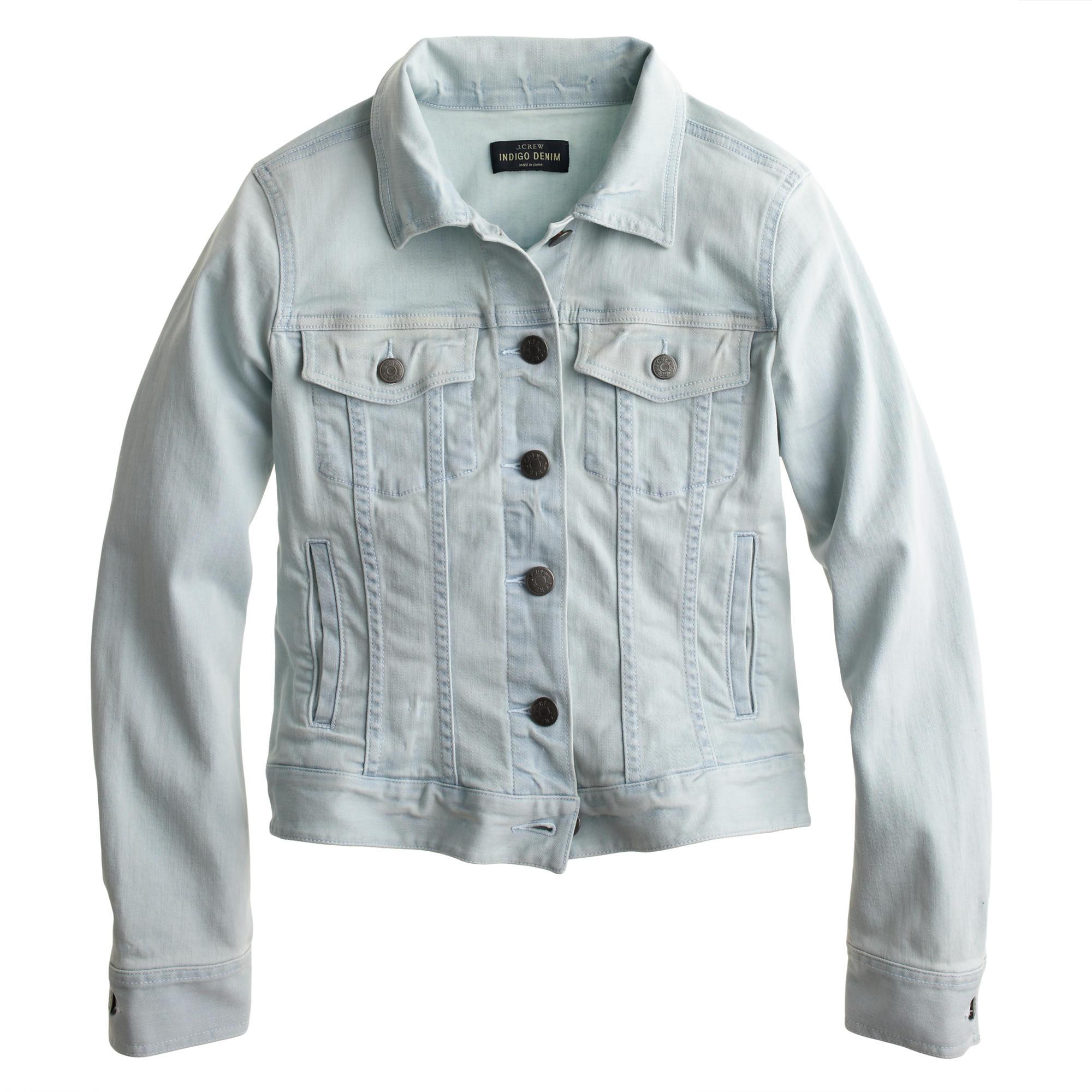 Stretch denim jacket in light blue : | J.Crew