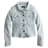 Stretch denim jacket in light blue