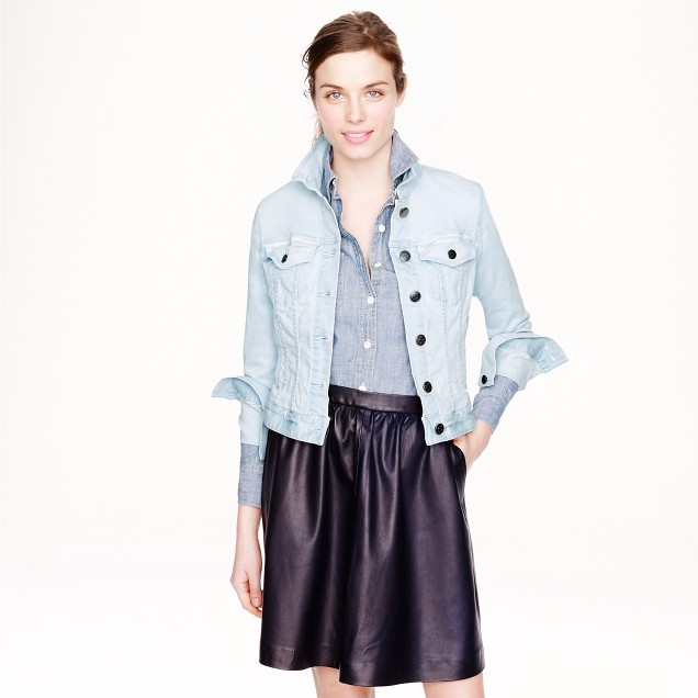 Stretch denim jacket in light blue : Women denim | J.Crew