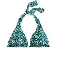 Lattice medallion triangle halter top