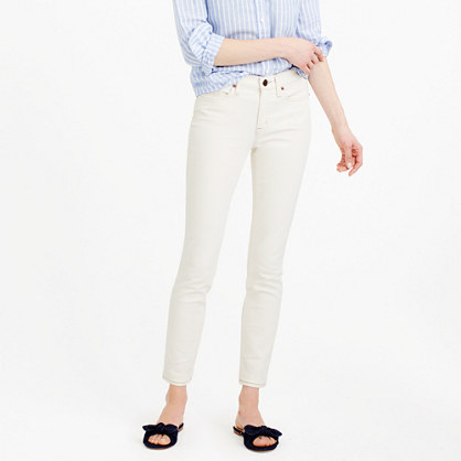 Stretch toothpick jean in ecru