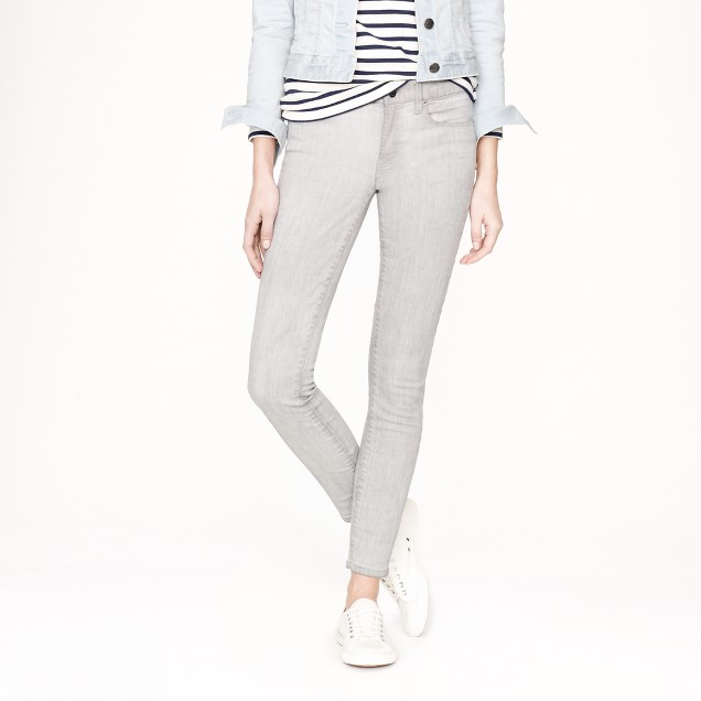Tall toothpick jean in silver wash