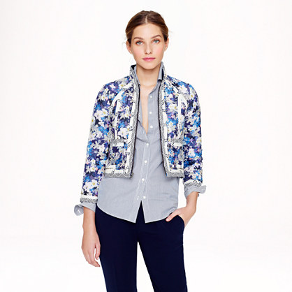 Collection jacket in nightgarden floral