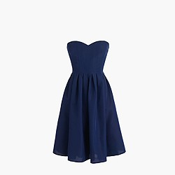 Petite Marlie dress in classic faille