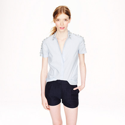 Collection cotton-silk faille pintuck short