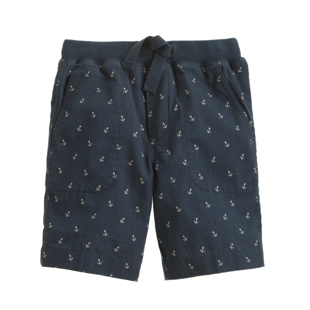 Boys' pull-on short in anchor print