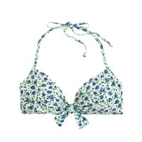 Tie-front halter top in Liberty Ricardo's blooms