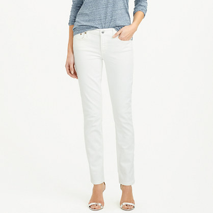 Stretch matchstick jean in white