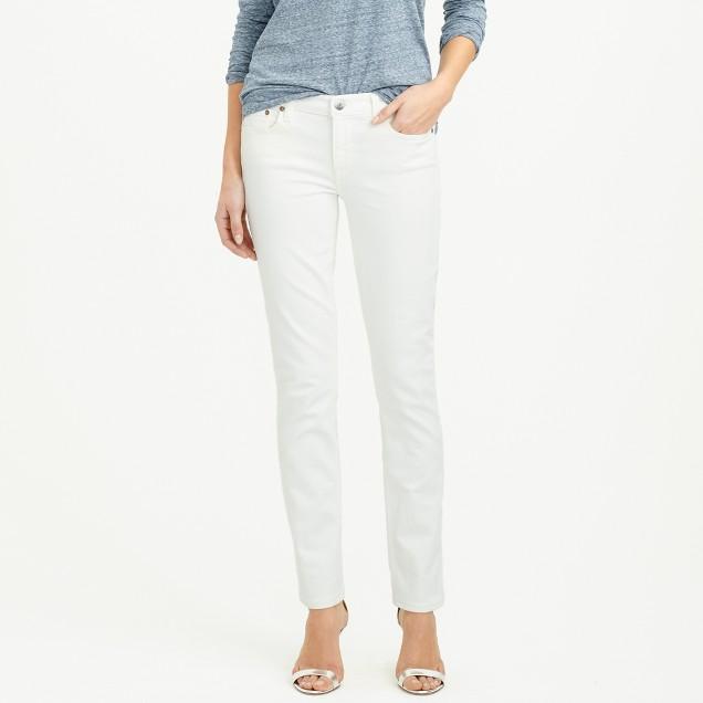 Stretch matchstick jean in white