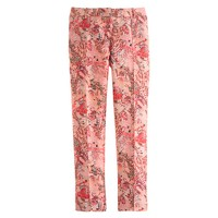 Collection cropped pintuck pant in lemonade print