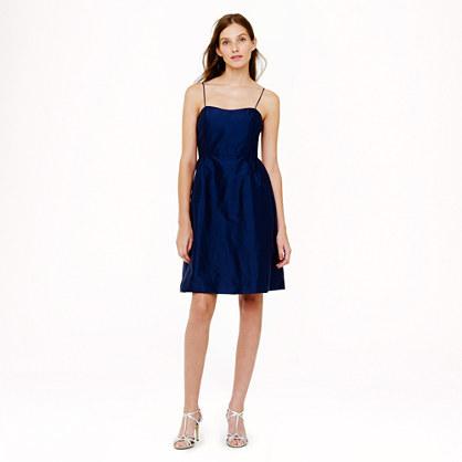 Noelle dress in silk dupioni