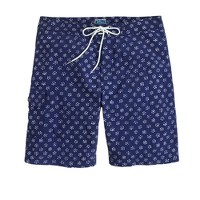 "9"" board short in flower bud print"