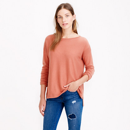 Collection cashmere textured-frame sweater