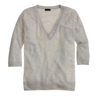 Collection featherweight cashmere drape-sleeve v-neck sweater