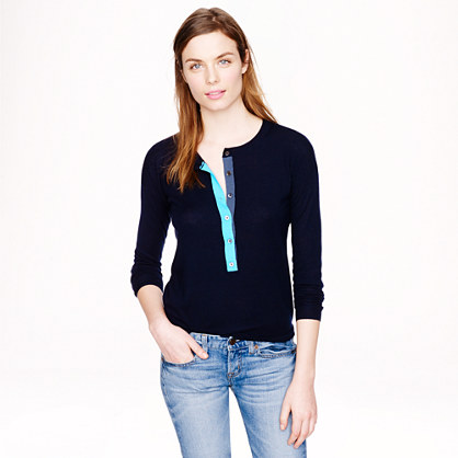 Collection featherweight cashmere tipped henley