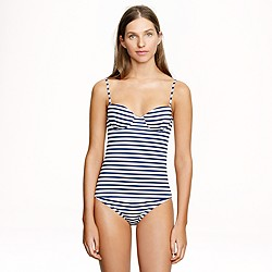 D-cup sailor-stripe underwire swing top