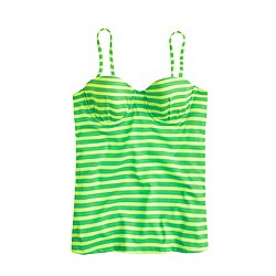Sailor-stripe underwire swing top