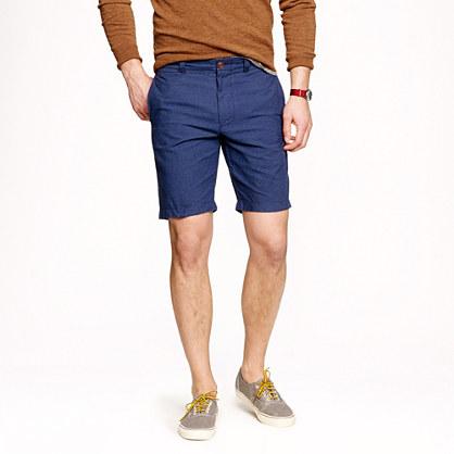"9"" Stanton short in gingham Irish linen-cotton"