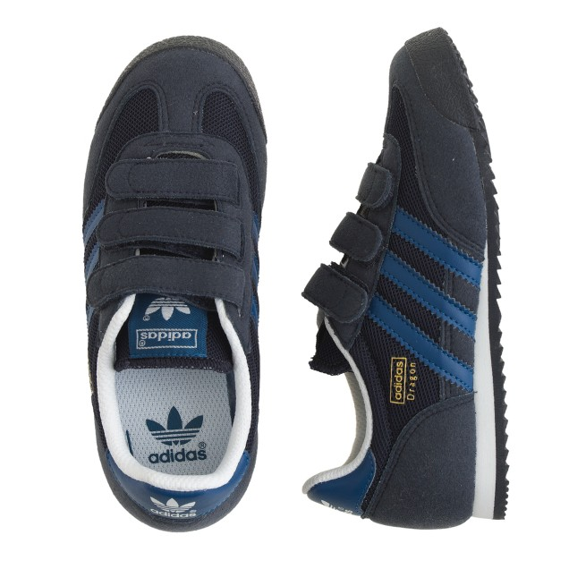 Kids' Adidas® Dragon sneakers in black and blue