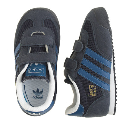 Kids' junior Adidas® Dragon sneakers in black and blue