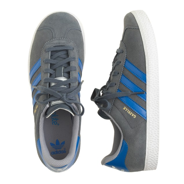 Kids' Adidas® Gazelle sneakers in grey in larger sizes