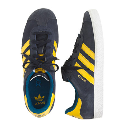 Kids' Adidas® Gazelle sneakers in black in larger sizes