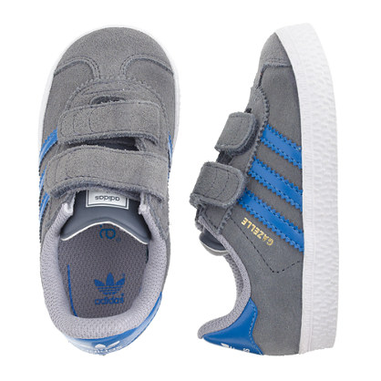 Kids' junior Adidas® Gazelle sneakers in grey