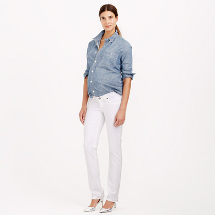 Stretch maternity matchstick jean in chalk