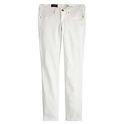 Stretch maternity toothpick jean in chalk