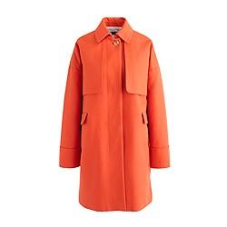 Petite cotton twill swing trench