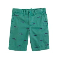 Boys' embroidered Stanton short in sharks