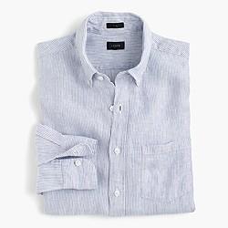 Slim Irish linen shirt in thin stripe