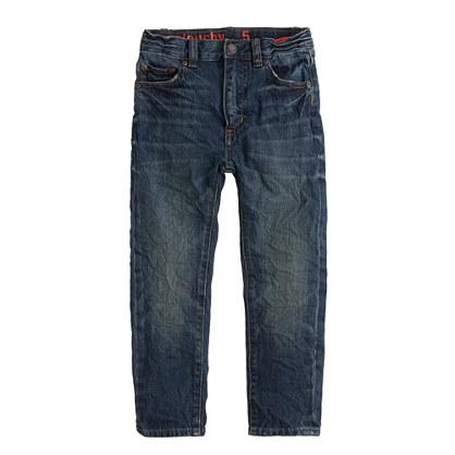 Boys' slim slouchy jean