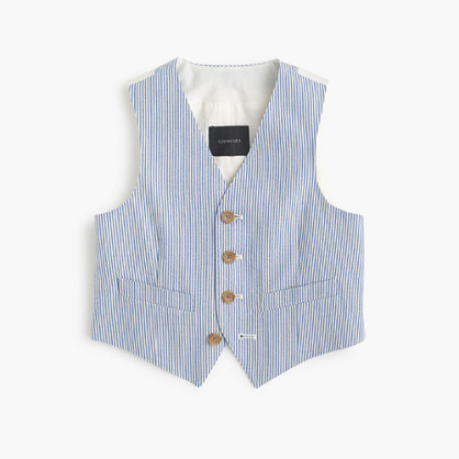 Boys' Ludlow suit vest in seersucker
