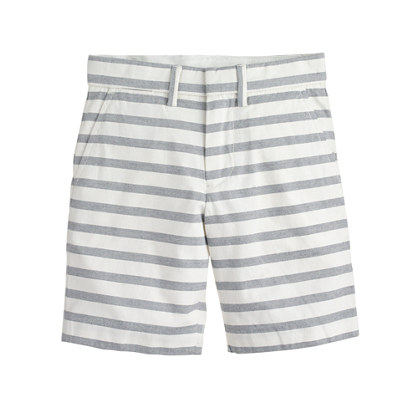 Boys' club short in stripe