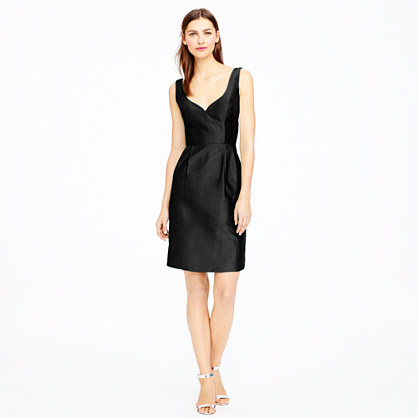 Petite Karlie dress in silk dupioni