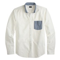 Vintage oxford shirt with contrast trim